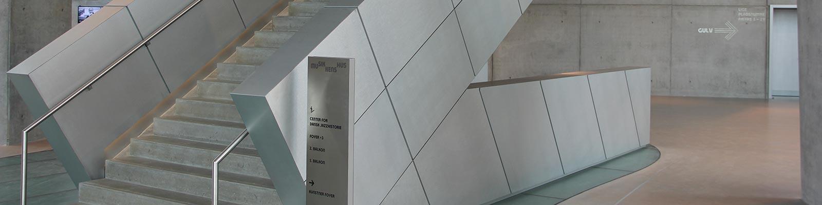 Elementer til Musikkens Hus produceret af Nytech
